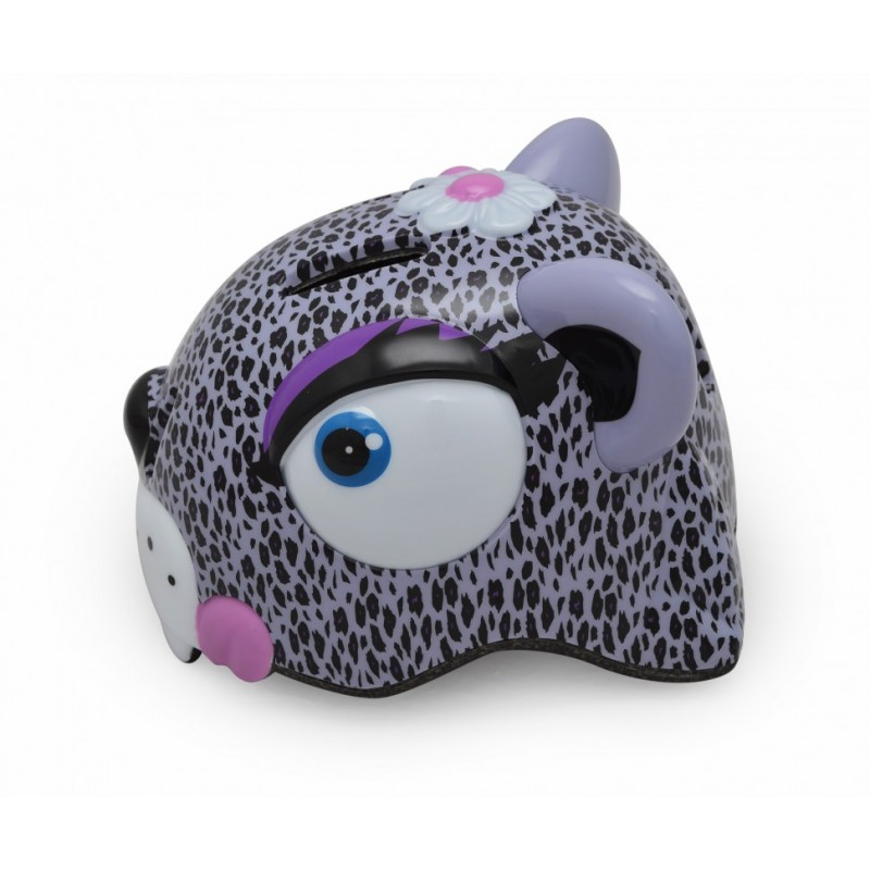 Шлем Crazy Safety Purple Leopard Glossy New (Леопард) (49-55)